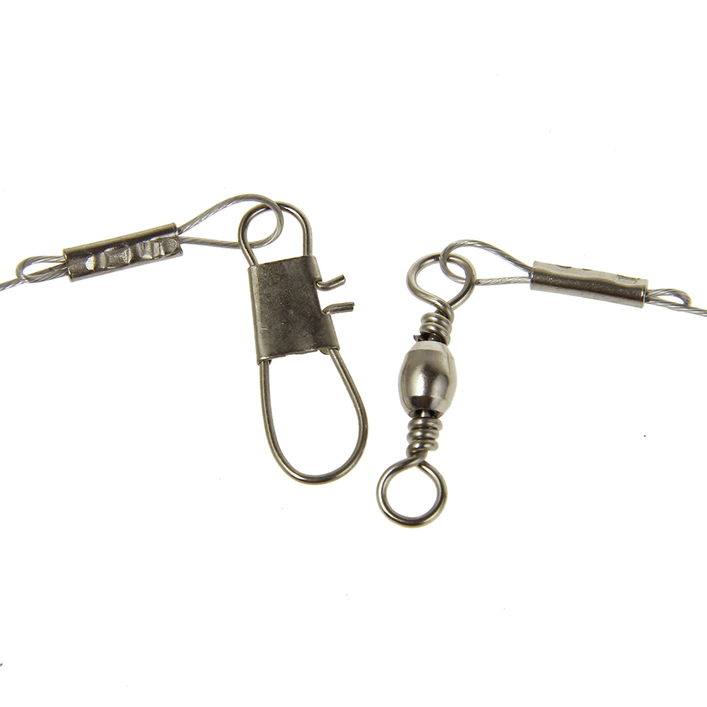 Wholesale fishing rigs 2 arm stainless steel swivel wire for Steel fishing leader
