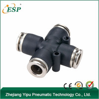PZAM zhejiang yipu brass sleeve plastic body air quick connect fittings