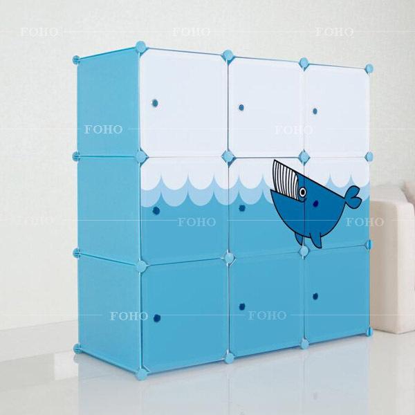cubes 12 design cartoon image mer bricolage magie v tementsles armoire mati re plastique fh. Black Bedroom Furniture Sets. Home Design Ideas