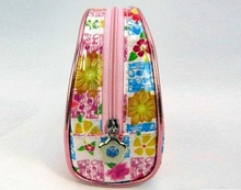 DR-201406072 fashion pvc mini cosmetic bag with flower picture hot in 2014