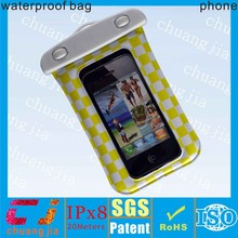 Clear 100% pvc waterproof cover bag for iphone5