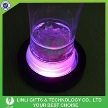 Round Shape Light Up Flashing LED Cup Pad
