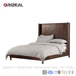 French antique style bedroom furniture wooden bed frame (OZ-LT-1021)