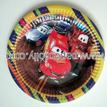 cars party plates