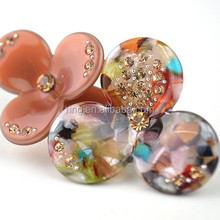 Top Quality Three Leaf Clover Cellulose Acetate Flowers Barrette Hair Clip