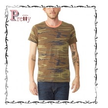 wholesale design tie dye printing army t-shirt for pre promotion in china