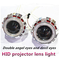 Hot sale! aes bi-xenon hid projector lens light angel eyes hid xenon kit car headlight