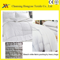 PFP/PFD Polyester brushed white fabric from changxing manufacturer/White polyester plain textile fabric