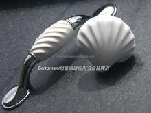 Porcelain Ocean white shell cartoon cabinet handle