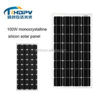 A-grade cell high efficiency mono 100W PV solar panel