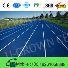 Artificial Sport Flooring Surface/IAAF Sandwich System Tartan Track/Waterproof Synthetic rubber running track