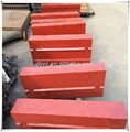 Alto cromo partes trituradora de impacto, barra de golpe, plana de la placa de martillo