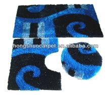 polyester tufted 3 piece bath mat