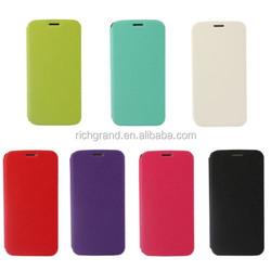 Ultra slim thin flip PU leather case skin cover for Samsung Galaxy S6 edge