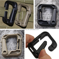 D-shaped Strong Plastic Carabiner Snap Quick Release Tactical Practical Backpack Camping Hiking Buckle Carabiners