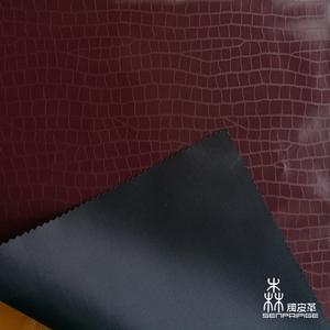 الصين المورد جلد التمساح نمط النهائي بو جلدي للملابس