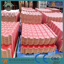 Best selling artificial extrusion a-upvc plastic roof tile for building roof with blue color with low price