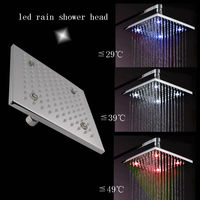 Classic Top brass water temperatures indicator shower led 20*20cm HM-D001-1