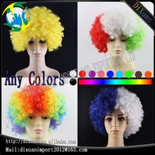 120g Football Fans Wigs World Cup Crazy African Synthetic Party Wig