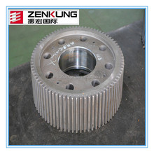 Hot sale open die forged gear shaft qualified supplier in china forged spur gear Wheel gear shaft Alibaba promotion