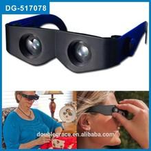 Tv venta caliente manos libres prismáticos plástico ajustable lupas binoculares