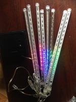 solar LED meteor christmas fireworks light