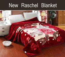 Pure Silk Blanket 100% polyester Double Printed raschel blanket