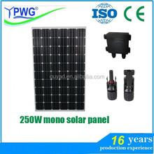 good price per watt solar panel 250w mono from China Manufacturer