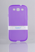 Transparent pc+ tpu Display Stand Matte Case Cover Skin For samsung galaxy s3