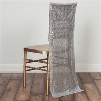 Duchess Sequin Chair Slipcover - Champagne/sequin gilding fancy chair cover/slubbed chair cover