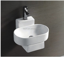 YJ9325 Wall-hung washing basin ceramic solid glaze for home decoration alibaba suppliers
