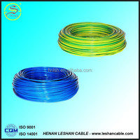 2015hot selling quality pvc insulation electric wire and cable 1.5mm 3 phase conductor