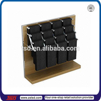 TSD-W730 China wholesales garment store trousers display stand/melamine wood display stand for trousers/pant trousers display