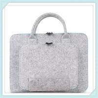 Free sample lady portable 15.6 Inch felt laptop sleeve bag