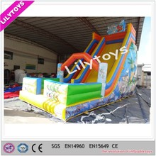 Classic inflatable slide toys, adult inflatable slip and slide, china giant inflatable slide