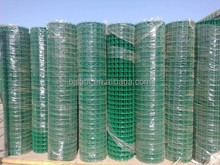 14 gauge green pvc coated chicken wire mesh roll animal cage