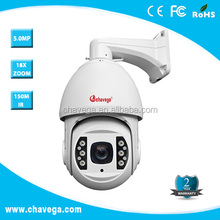 5MP Onvif PTZ IP Camera High Speed Dome IP Camera 18x Real time Waterproof IP66