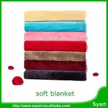 cheap luxury coral fleece flannel blanket pure color wholesale bulk, china supplier