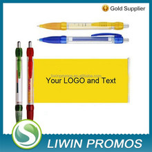 Advertising ball pen with banners and logo imprinted