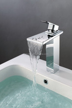 square design flat handle brass body deck mounted chrome plated mirror face competitive price basin faucet