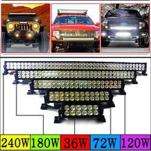 Factory wholesale 36w 72w 120w 180w 240w led light bar, led driving lights for off road Jeep SUV UTV ATV boat lights
