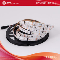 5m 30leds/m LPD6803 6803 Led Strip RGB Dream Color strip 5050 SMD Non-waterproof 150led 1 IC drives 3 pixel DC12V Digital