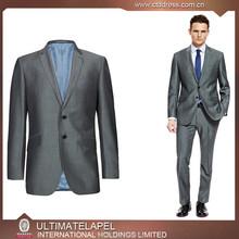 2015 new arriving high end 100% wool sliver grey office uniform designs for men