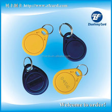 Alibaba gold supplier provide 125khz/13.56mhz rfid electronic key fob