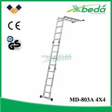 new products safety multipurpose platform folding aluminum ladder beam (MD-803A 4x4)