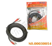 Suoer 10m 2 RCA To 2 RCA Audio Video Cable 2RCA AV Cable