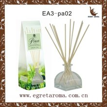 Popular customized glass bottle with rattan sticks for hotel automatic air freshener