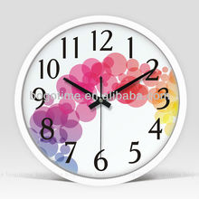 Hot selling home decor promotion cheap plastic wall clock, clock wall clock