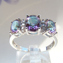 De China al por mayor anillo de topacio fuego místico, plata al por mayor de moda de la joyería mística DSC07759-3.38g