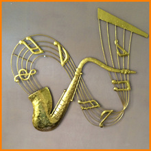 Cheap wholesale manufacturers of high-quality European-style metal crafts Iron crafts sax Wall